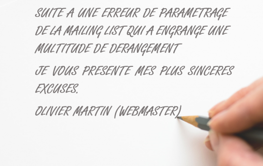 Mailing list dérangement