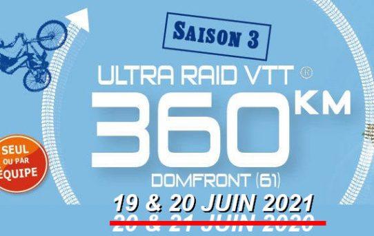 UR360 : EDITION REPORTEE au 19 & 20 JUIN 2021