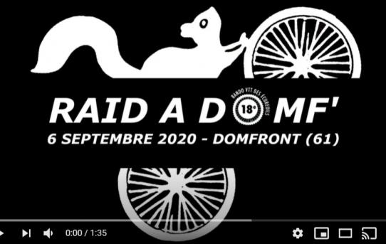 Teaser Raid à Domf' 2020 - 6 septembre 2020 - Randonnée VTT, Gravel, Marche